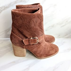ISOLA Brown Snake Skin Pattern Leather Heeled Boot